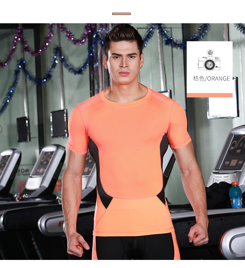 Dry Fit Men Running T Shirts Bodybuilding Training Tights Undershirt Fitness Sports Compression Jogging Suits Gym