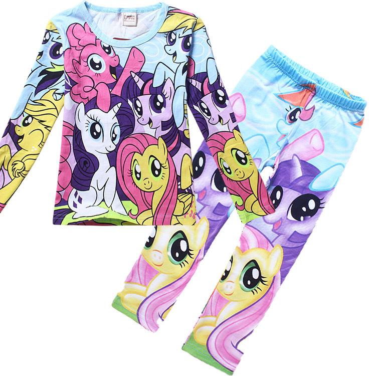 KNB Autumn Winter Kids Pijamas Set for Girls My Little ...