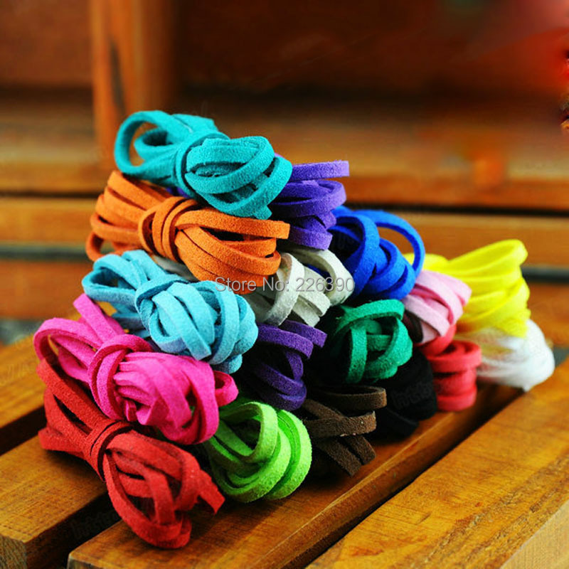 1meter/lot 3mm Suede Flat Leather Cord Bracelet Faux Velvet Cords Rope Thread String Necklace DIY Jewelry Findings Y491(China (Mainland))