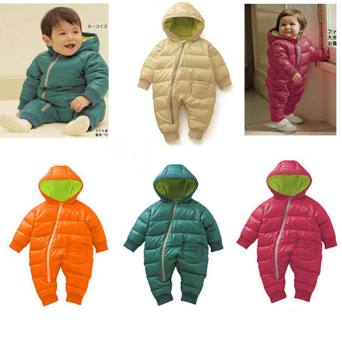 New Arrival Fashion Toddler Baby Rompers Overalls For Winter Cotton Padded One Piece Children Kids Jumpsuit 6months-2Years Y001(China (Mainland))