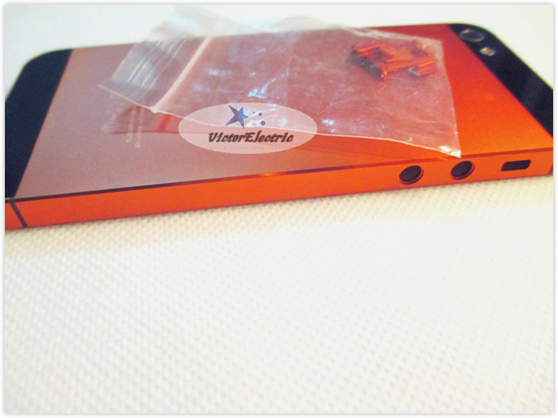 Orange back housing iphone 5 metal colorful iphone5 good quality ! - External Phone Accessories store