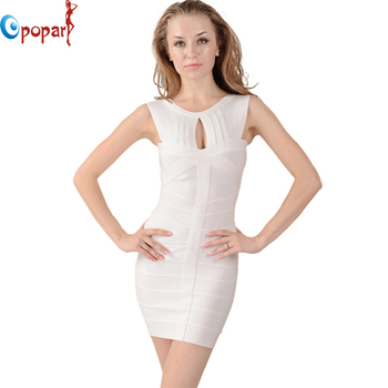 Women Black White hollow out Back Deep V Celebrity Bandage Dresses Front Hole Noble Sexy Party Dress Sexy Drop Shipping HL0831-1