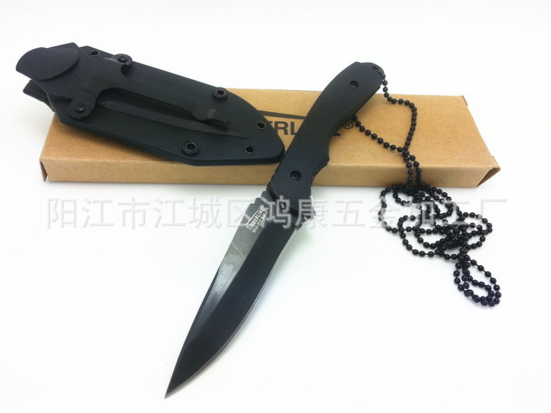 58HRC 440A Small Fixed Blade knife 089 gift Outdoor necklace knife tool collection gift(China (Mainland))