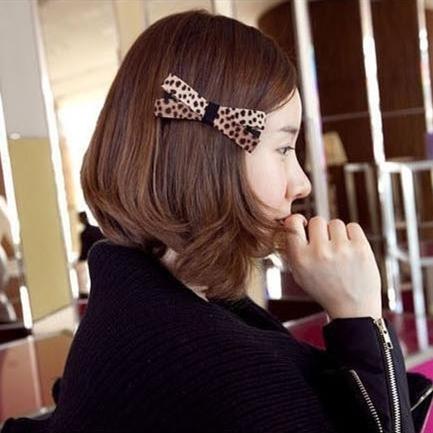 Flower DIY wealth leopard headband hairpin edge clip bow hair accessories head flower headdress Korean ring 226 - Magic Sheila store