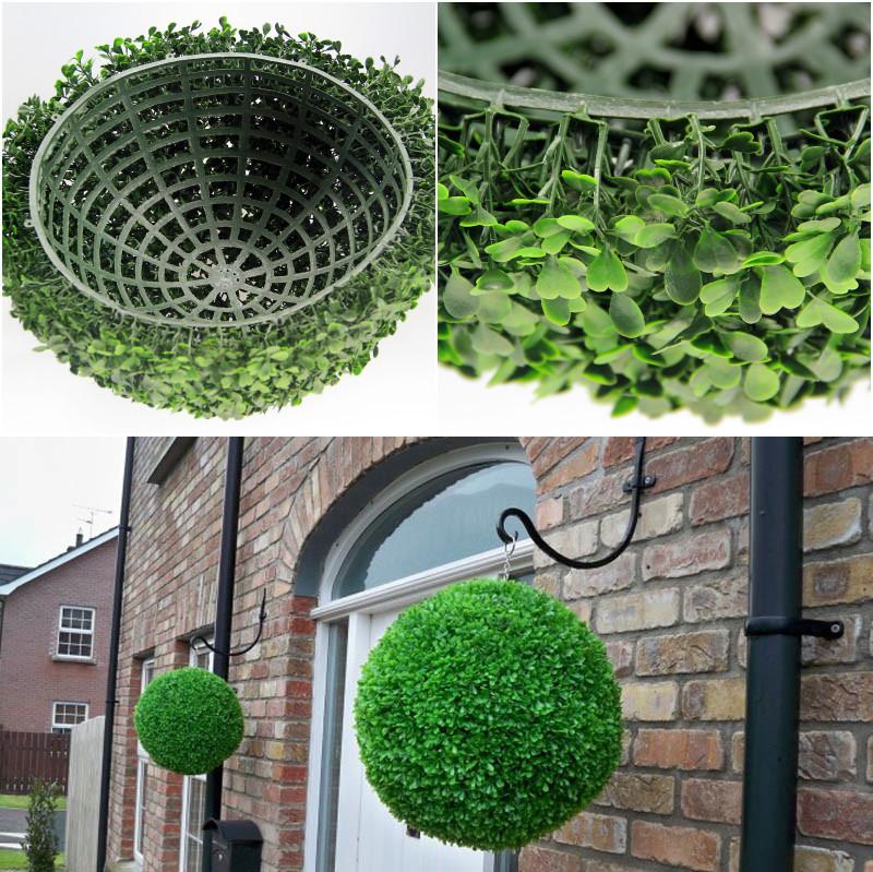Buy 28cm artificial grass ball topiary for Alfombra verde para jardin
