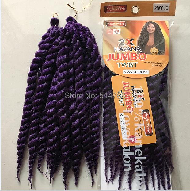 Free shipping 90g/pack 12 Havana mambo Twist Crochet Braid Hair ...