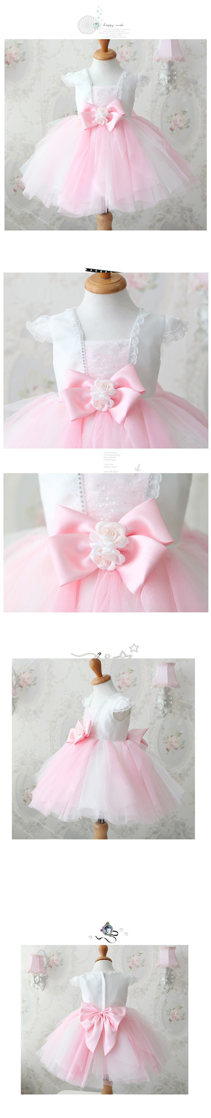 Скидки на ДЕТСКИЕ WOW Baby Girl Одежда 1 Год Рождения Платье Цветок девочки Платья Vestido Infantil для 0-10 Т Младенческой Принцесса Платье 8009