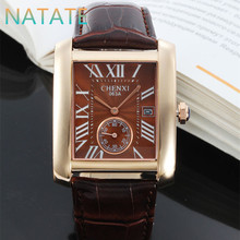 NATATE Men New Luxury Brand Business Fashion Trend Watch Authentic CHENXI waterproof Men The calendar Leather strap watch 1140(China (Mainland))