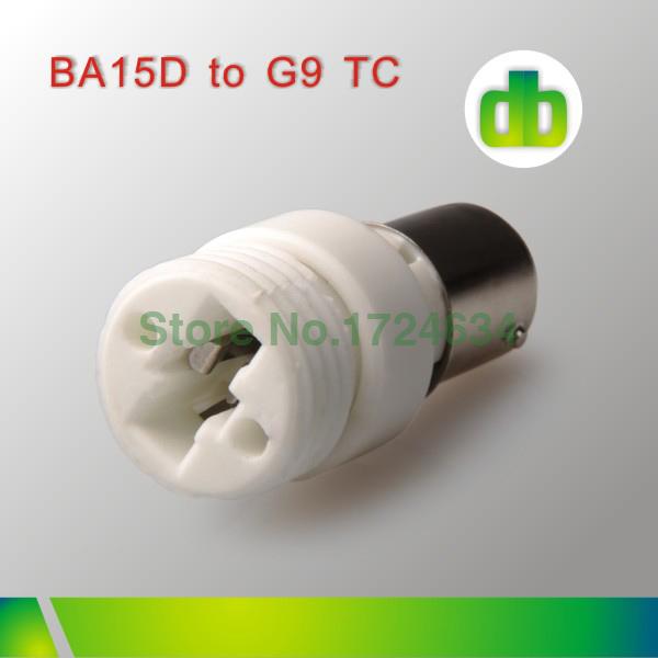 12pcs White Ceramics BA15D To G9 lamp base Adapter For Led Light Made In China(China (Mainland))