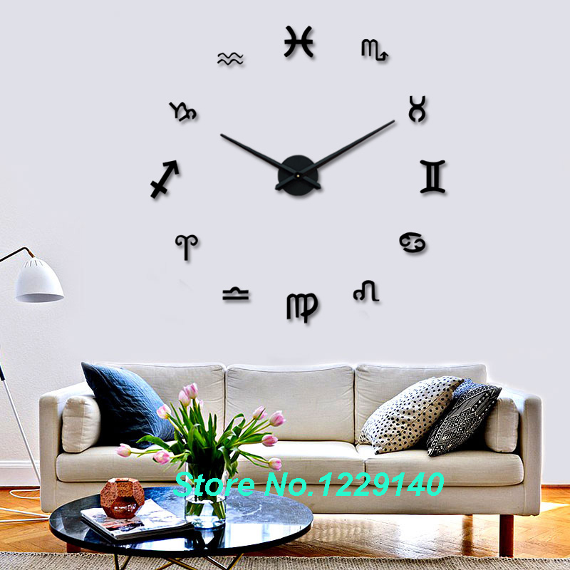 New diy wall clock modern interior large clock 3d stickers for Latest home decor items