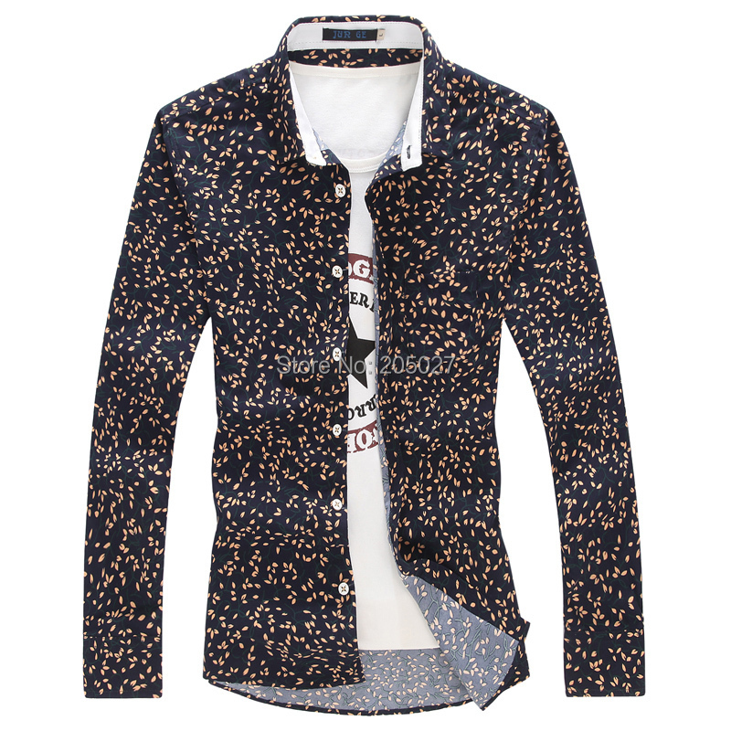 2015 Spring New Stylish Polka Dot Shirts Men, Men's Casual Dress Men Plus Size 3XL 4XL 5XL - Yiwu Fashion Commodity Supermarket Retail Dropship store
