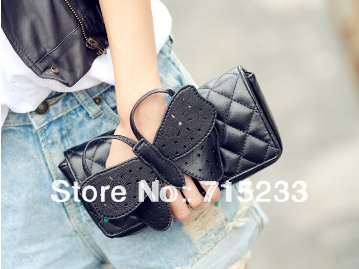 Clearance Sale Butterfly bow-knot Clutch Bag Purse women evening bags clutches chain shoulder bag - love&charm store