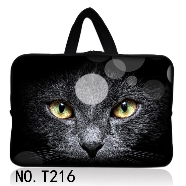 """Black Cat 17"""" 17.3"""" Cool Laptop Bag Sleeve Carry Case Holder For 17"""" Dell Alienware M17x(China (Mainland))"""