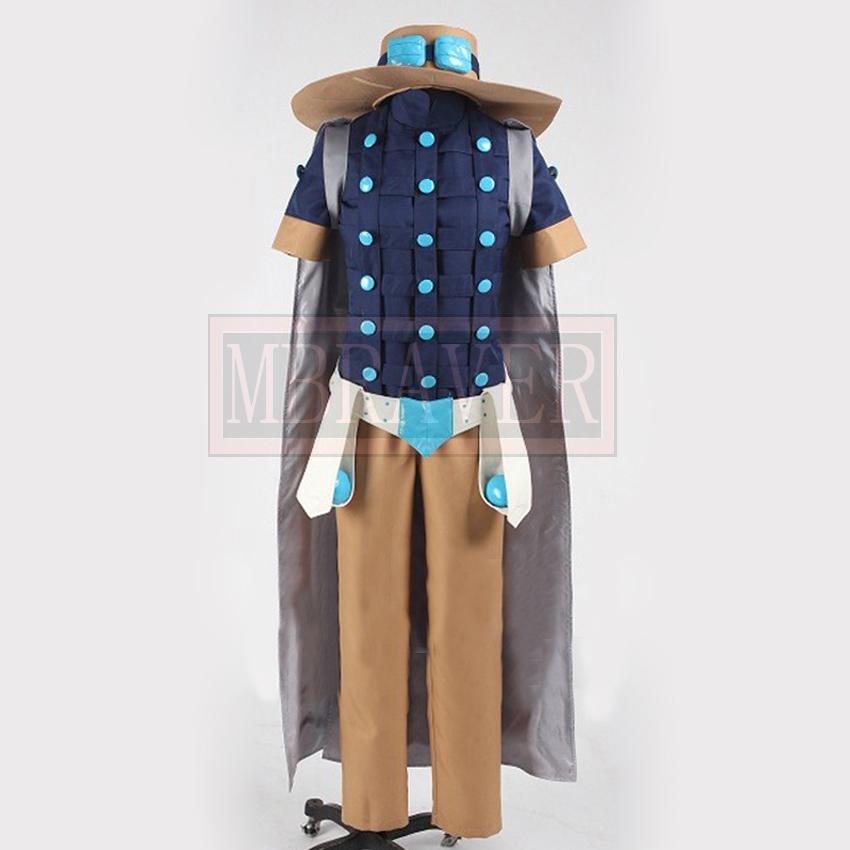 JoJo's Bizarre Adventure Steel Ball Run Gyro Zeppeli Cosplay Costume Custom Made Free Shipping(China (Mainland))