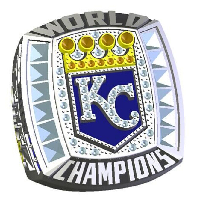 Pre-sale 2015 Kansas City Royals World series championship ring 8-14 size copper solid back Perez Name(China (Mainland))