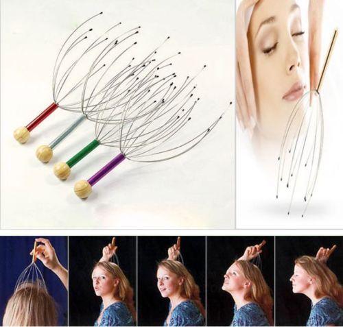 New Head Neck Scalp Massager Massage Tool Stress Relax Hair care health monitors body massager massageadores~HF112(China (Mainland))