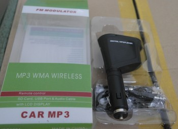 Car Kit MP3 Player Wireless FM Transmitter Modulator USB SD LCD With Remote