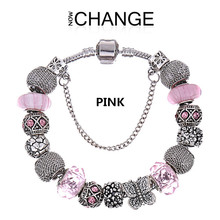 Top quality summer style wholesale aliexpress european charm beads fit charm bracelets for women with a gift bag BL106(China (Mainland))