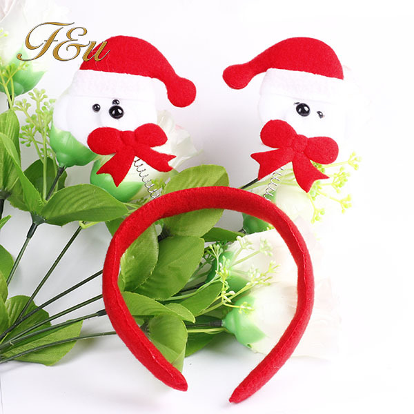 Brand New Adult and child gift Soft Santa Claus Hat Christmas decration head band for Christmas party15(China (Mainland))