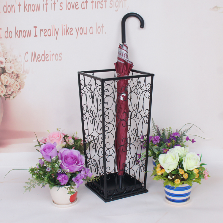Wrought iron umbrella stand household umbrella stand umbrella storage rack French umbrella bucket(China (Mainland))