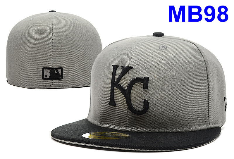 New Kansas City Royals royal color KC logo embriodery cheap sport Size baseball fitted hats men hip hop closed casual caps(China (Mainland))