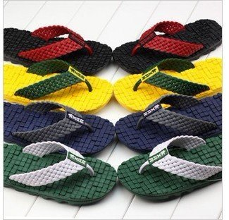 British soft bottom slippers mixed colors massage slippers