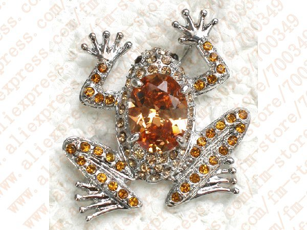 Wholesale 12piece/lot Clear,Red,Purple, Topaz Color,Pink Crystal Frog Fashion Costume Pin Brooch C891<br><br>Aliexpress