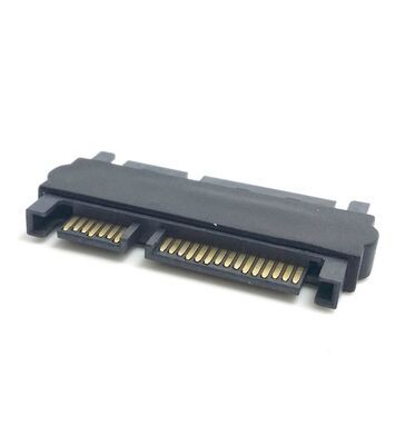2pcs/lot High quality 7+15 Pin SATA Male to Male Adapter Power supply SATA 22P extended convertor(China (Mainland))