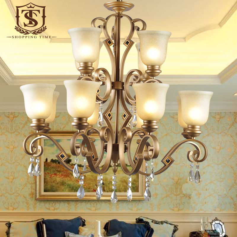 Foyer Chandelier Wrought Iron : Luxury vintage wrought iron chandelier duplex foyer glass