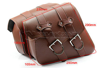 New Motorcycle PU Leather Side Bags Saddle Bag for Harley Sportster XL 883 1200 Brown Wholesale C10(China (Mainland))