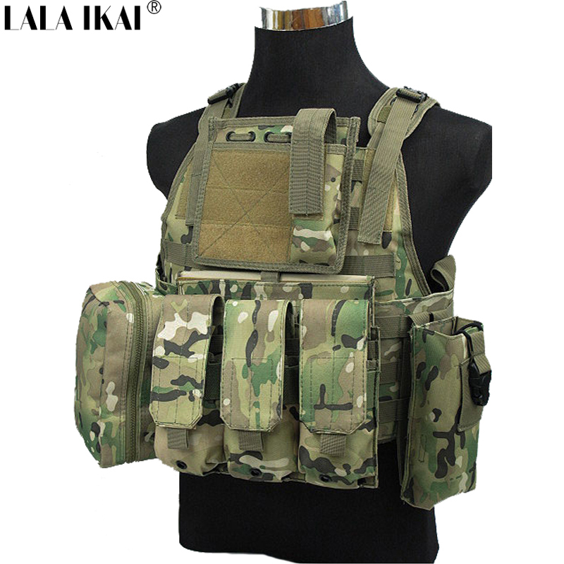 Genuine Man'S Tactical Vest Bulletproof Molle Tactical Black Vest CS Hunting Shooting Swat Protective Equipment Vest HMT0040-5(China (Mainland))
