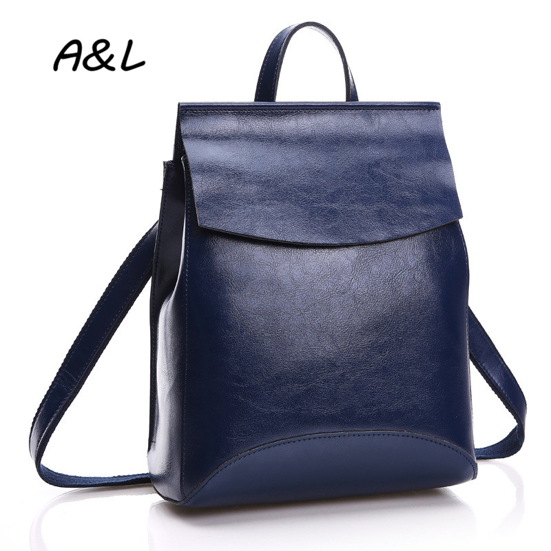 100% Genuine Leather Bag Women Backpack Lady Luxury Brand Cowhide Outdoor Backpack High Quality Fashion Casual School Bag A0051(China (Mainland))
