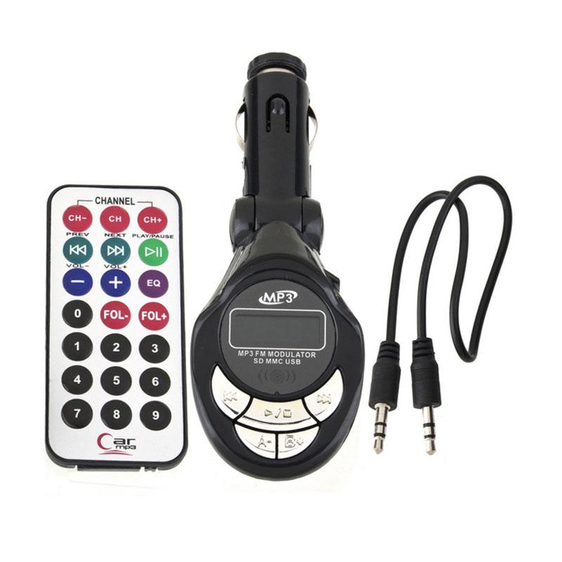 New Arrival Car MP3 Player Wireless FM Transmitter Modulator USB SD CD MMC Remote XRC(China (Mainland))