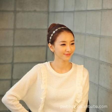 0958 new hollow roses Korean dish made hair band hairstyle worn with simple headband wholesale P3(China (Mainland))