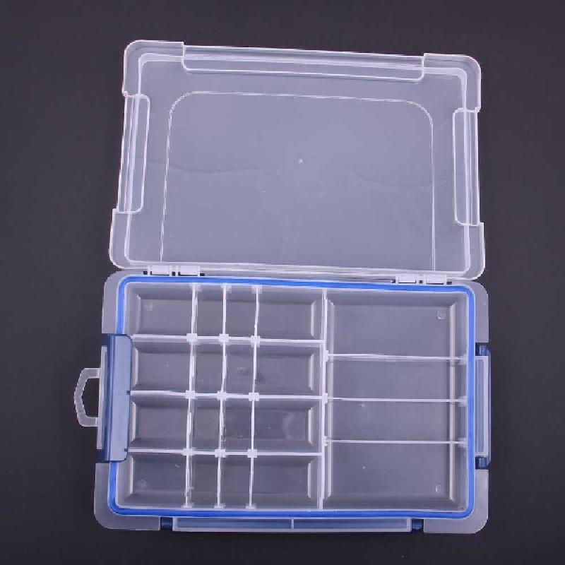 20 Lattices Jewelry Boxes Storage Box Fashion Rings Storage Transparent Plastic Boxes Small Case 27*17.5*4.5cm Eco-Friendly Box(China (Mainland))