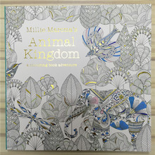 96 Pages Animal Kingdom Coloring Books For Adults Childs Graffiti Painting Secret Garden Style Drawing Book Free Shipping 1109(China (Mainland))
