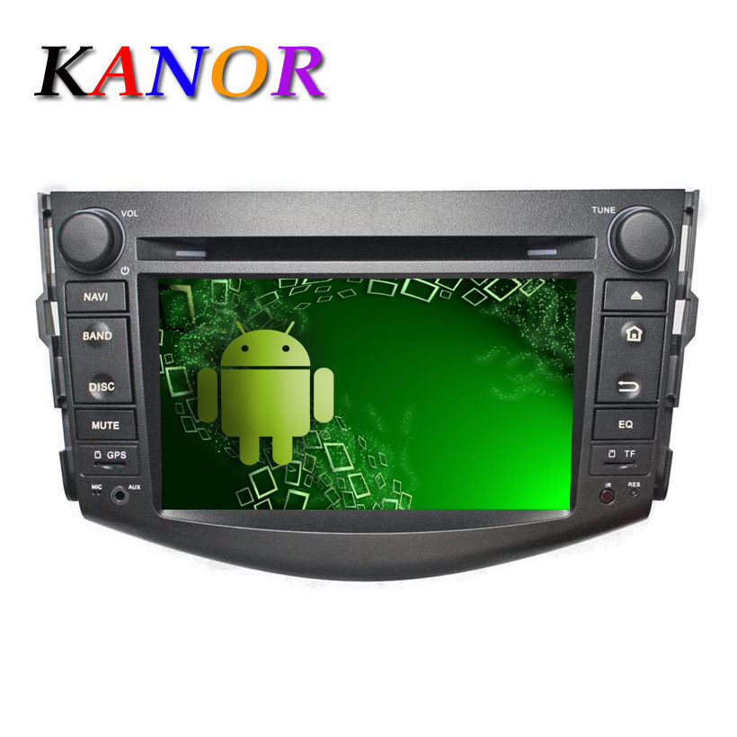 Quad-core 1024*600 Autoradio Android 5.1.1 Toyota RAV4 2006-2012 Central Multimedia Car Radio GPS Navigator DVD Cassette Player(China (Mainland))