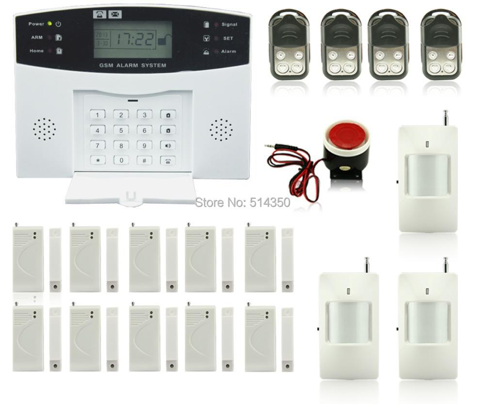 Гаджет  Dual voice telephone line LCD home alarm system home/shop security system None Безопасность и защита