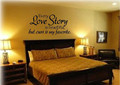wall stickers home decor English quote every love story is beautiful Vinyl Lettering Words Wall Art
