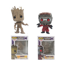 Funko Pop Groot Star-Lord Tree man Guardians of the Galaxy Anime Movie Vinyl PVC Collection Action Figure Model PVC Kids Toys(China (Mainland))