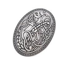 Viking Erano lupo Scolpito Rune Etnico Pace Spilla Totem Distintivo oro argento Cosplay Corpetto Spille Gioielli per le donne(China)