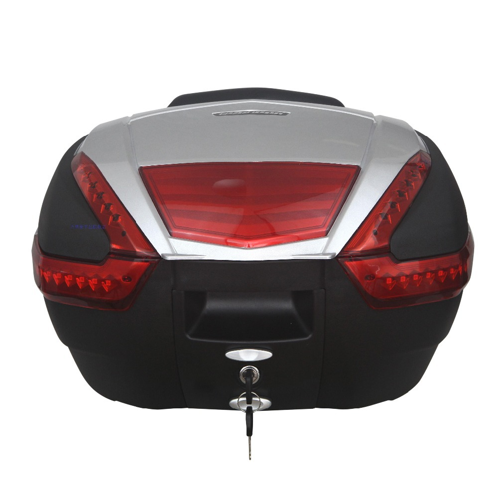 WLH 48L E-68 motorcycle tail box electric bicycle trunk scooter top case<br><br>Aliexpress