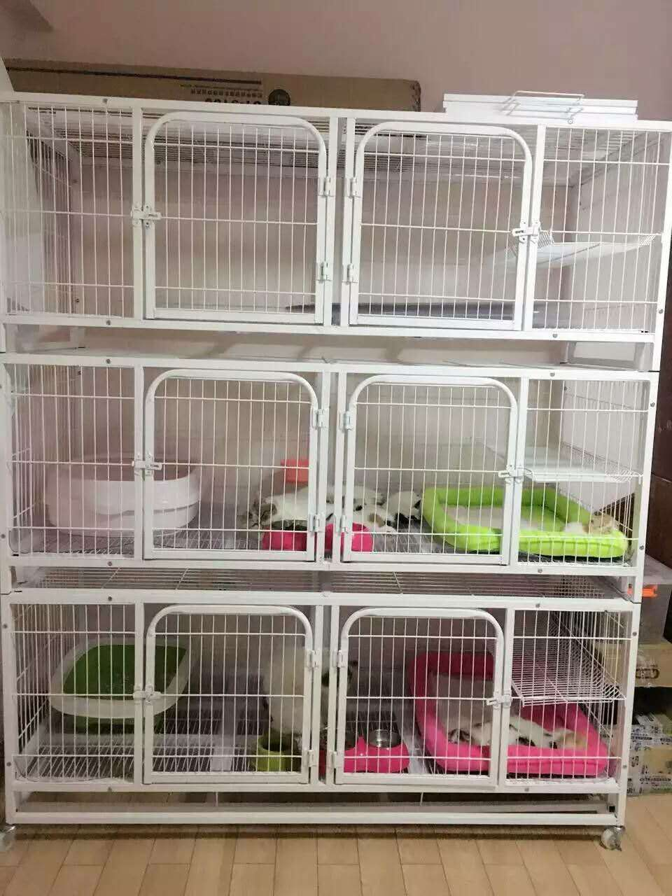 1 64 M Long Square Tube Cat Cage Door Three Large Breeding