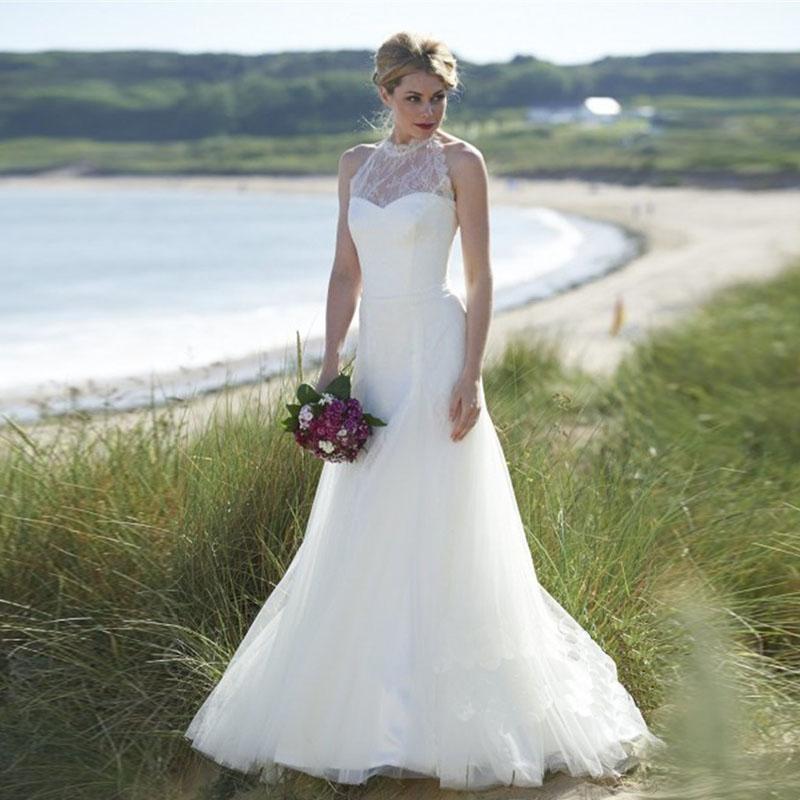 Видеть сквозь урожай-вдохновил на заказ hi-end шеи свадебные платья органза свадебные платья халат де mariée