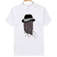 Wholesale Retail Z094 O-Neck Tee-Shirt Tobacoo Pipe Fashion Short-Sleeve t shirt Printed Men's 100%Cotton TShirts