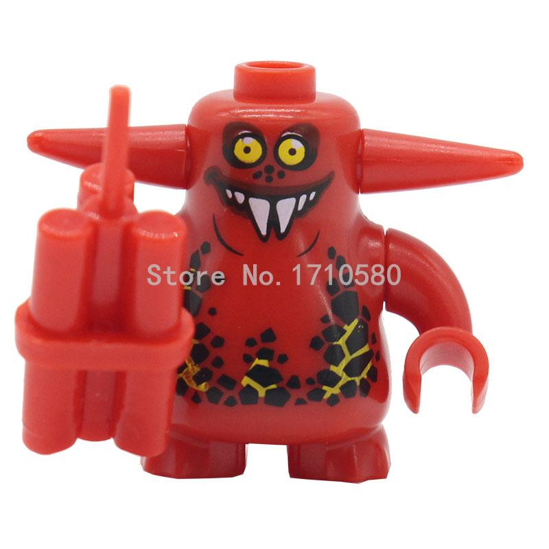 PG907-910 Nexo Knights Fortress Warrior Scurrier With 6 Tooth Offended Face Minifigures Constructing Block Kids Reward Toys