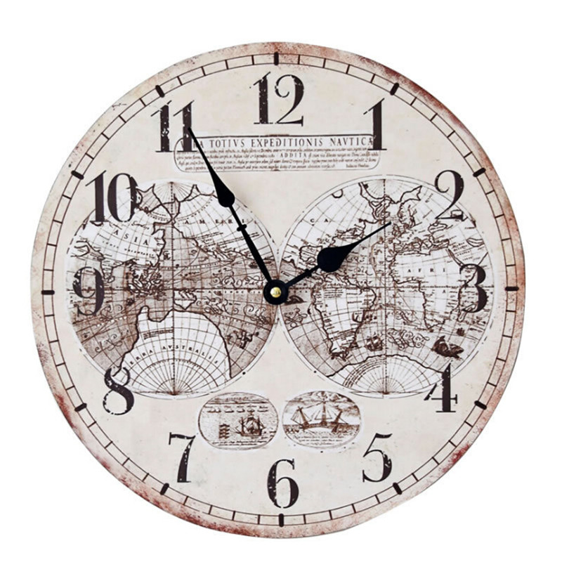 world map large decorative wall clock modern design fashion silent meeting room wall decor clocks home decoration watch wall(China (Mainland))