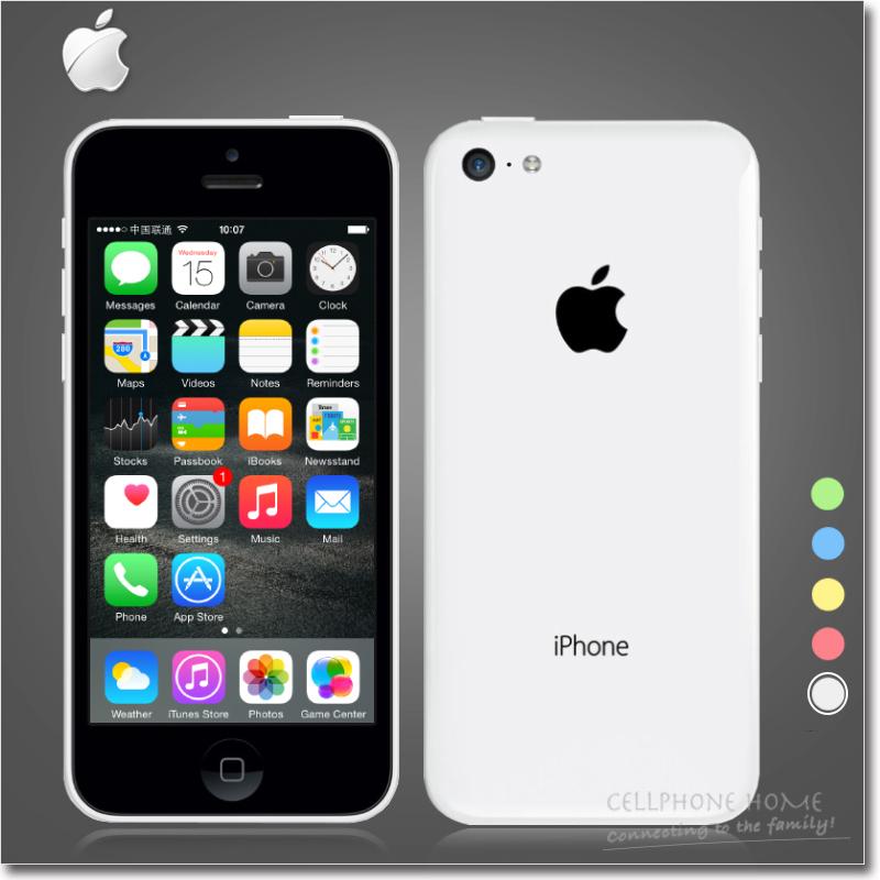 "Original Apple iPhone 5C Unlocked Cellphone 4.0""IPS 1136x640 Retina IOS8 Dual-Core 1GB RAM 16GB/32GB ROM 8MP 1080P GPS WIFI USED(China (Mainland))"