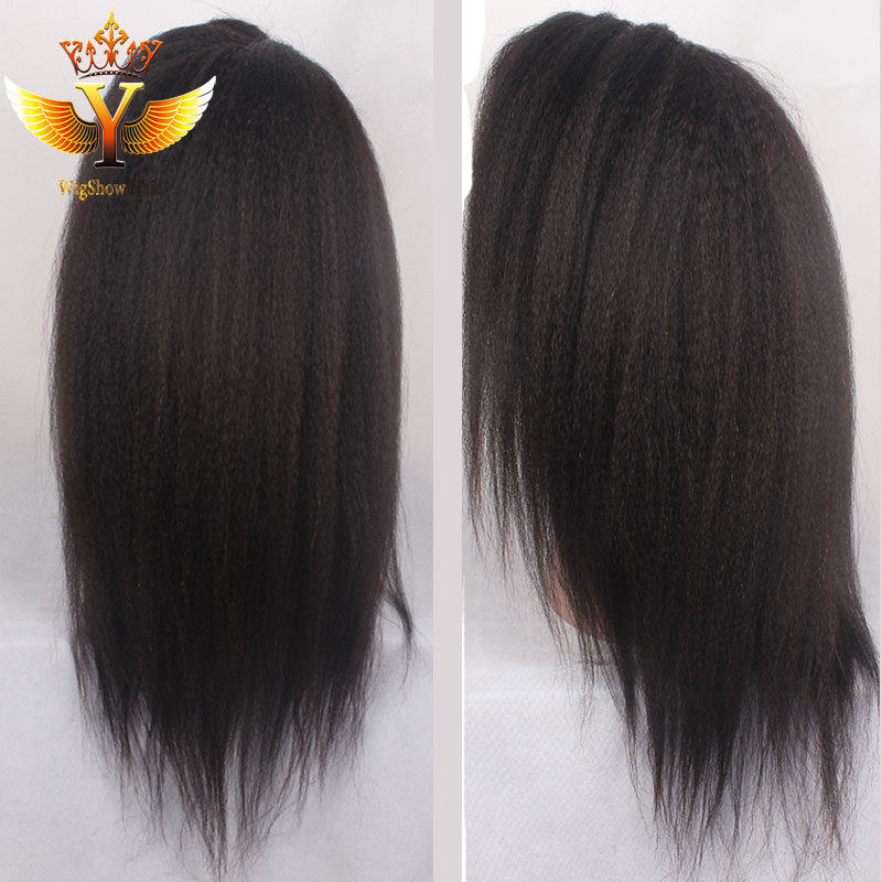 Brazilian Kinky Straight Wig Glueless Full Lace Kinky Straight Wig For Black Women Virgin Human Hair Full Lace/Lace Front Wigs<br><br>Aliexpress