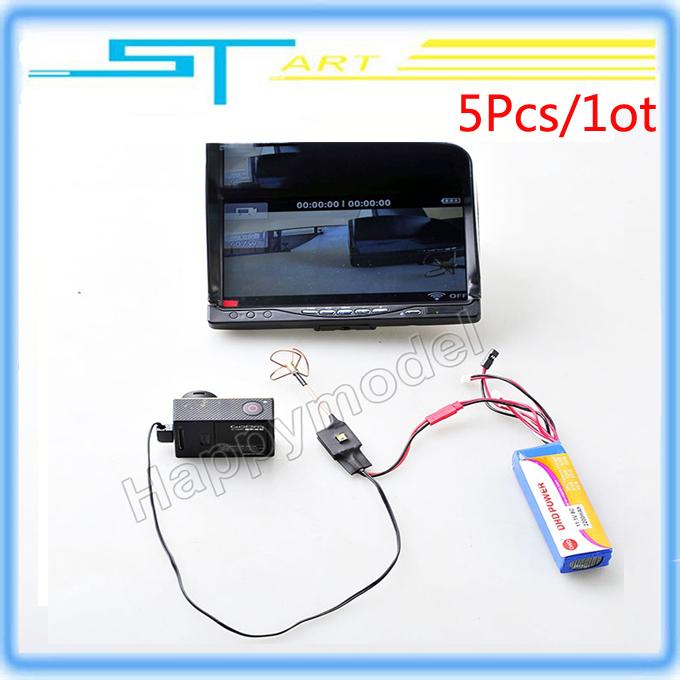 5Pcs 200MW 5.8Ghz DIY Transmitter image transmission FPV Audio Video AV Mini Antenna for F450 F550 Gopro Camera